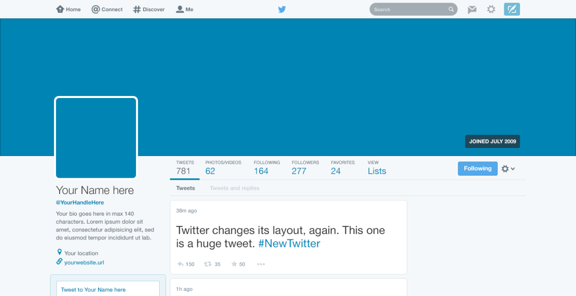 Twitter 2015 Layout — Free PSD Template — GBX Studio — Graphic ...